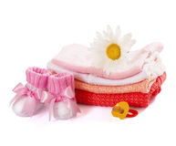 Pile baby clothes Stock Photo
