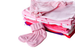 Pile of baby clothes Stock Image
