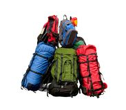 Pile of backpacks Royalty Free Stock Photo