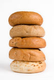 Pile of Bagels. A pile of fresh bagels Royalty Free Stock Photos
