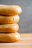 Pile of bagels Stock Photos