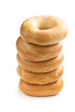 Pile of bagels Royalty Free Stock Photography