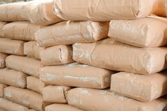 Pile of bags in production in stock or production. Pile of bags in production royalty free stock photography
