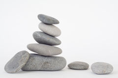 Pile of balanced stones  Stock Photo