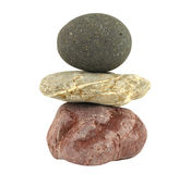 Pile of balanced stones representing meditation Stock Photo