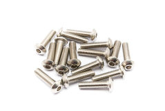 Pile of Ball-Hex -Head Stainless Steel Bolts Royalty Free Stock Images