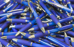 Pile of ballpoint pens Stock Photo