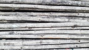 Pile of Bamboo for background. And texture Stock Photo