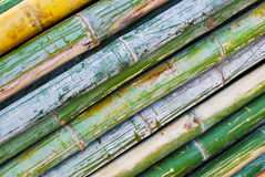 Pile of bamboo closeup. Pile of bamboo in storage for construction or industrial work , texture background stock photos