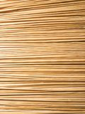 Pile of Bamboo Skewers. Lined up Royalty Free Stock Image