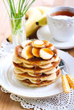 Pile of banana pancakes Stock Photos