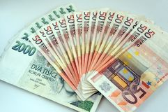 A pile of banknotes stock photography