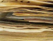 Pile of banknotes Stock Images