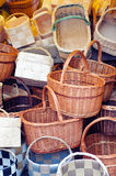 Pile of baskets. Pile of traditional baskets background Royalty Free Stock Images