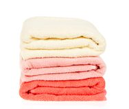Pile of the bathing towels Royalty Free Stock Images