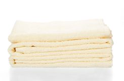 Pile of the bathing towels Stock Image