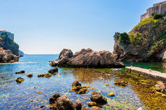 Pile Bay near Dubrovnik old town Royalty Free Stock Image
