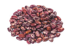 Pile of beans close up. On white Stock Photography