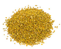Pile of bee pollen Background Isolated On White Stock Photo