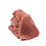 Pile of beef meat slices isolated Royalty Free Stock Image