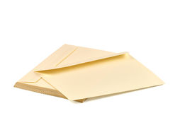 Pile of beige envelopes Royalty Free Stock Photo