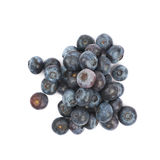 Pile of bilberries isolated. Pile of ripe bilberries isolated over the white background Stock Image