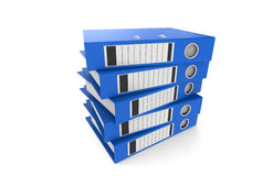 Pile of Binders. 5 Blue Binders in a pile Royalty Free Stock Photo