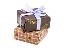 Pile of birthday presents Royalty Free Stock Images