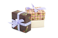 Pile of birthday presents Royalty Free Stock Photography