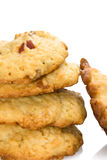 Pile Of Biscuits. Food And Drinks - Desserts - Homemade biscuits isolated on white background Stock Photos