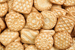A pile of  biscuits. Food background Royalty Free Stock Photography