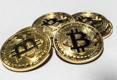 Pile of bitcoins Royalty Free Stock Images
