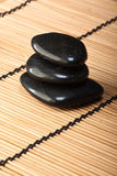 Pile of black basalt stones for thermotherapy (2) Royalty Free Stock Image