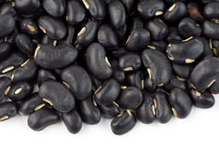 Pile of black beans Stock Photos