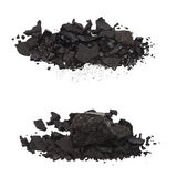 Pile black coal isolated Royalty Free Stock Image