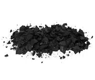 Pile black coal isolated Stock Image