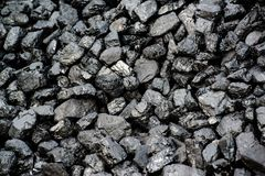 Pile Of Black Coal stock images