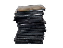 Pile of black folders Royalty Free Stock Image