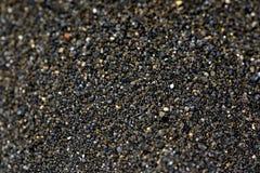 Pile of Black islandic sand. Macro photo studio stock photo
