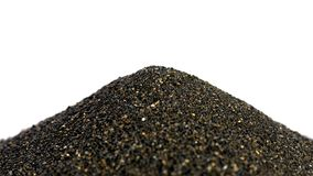 Pile of Black islandic sand Royalty Free Stock Images