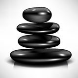 Pile of black massage spa stones Stock Images