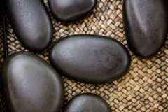 A pile of black stones Royalty Free Stock Photo