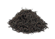 Pile of black tea, isolated Royalty Free Stock Photo