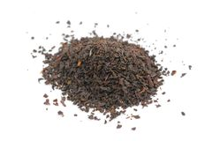 Pile of Black Tea Isolated on White Background Royalty Free Stock Photography