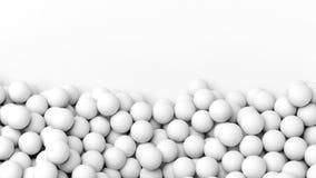 pile blanche des sphères 3D Photographie stock libre de droits