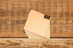 Pile blank color stickers Royalty Free Stock Photo