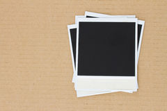Pile of instant photo Royalty Free Stock Photos