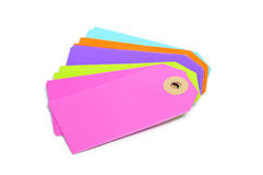 Blank paper labels of different colors Royalty Free Stock Photos