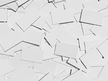 Pile of blank business cards. 3d rendering. Pile of blank white business cards. 3d rendering Royalty Free Stock Images