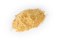 Pile of blended ground flax seeds powder Royalty Free Stock Image
